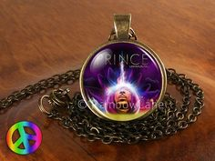 Prince RIP Lotusflower Lotusflow3r CD Sign Symbol Necklace Pendant Jewelry Gift
