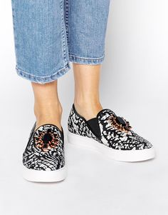 Miss KG Loretta Embellished Slip On Trainers