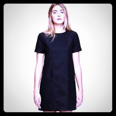 BIlly Reid Posey Dress Never worn, new with tag. Billy Reid black shift dress in signature fox detail luxe cotton blend fabric with super cool front pockets. Billy Reid Dresses Mini