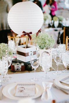 Centros de mesa con globos para boda - Centros de Mesa