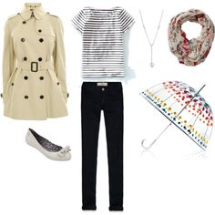 Rainy day - Summer 1 by minime80 on Polyvore featuring Burberry, Hollister Co., Boden, Tiffany & Co., Totes and Fat Face