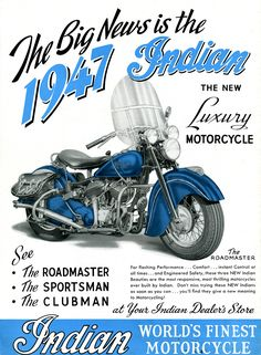 1947 Indian Motorcycle ad