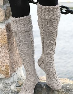 Winter boot socks! Nice and warm and cute!
