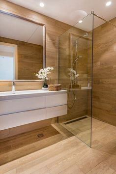 Bathroom decor for your master bathroom remodel. Learn bathroom organization, bathroom decor ideas, bathroom tile tips, master bathroom paint colors, and more. Modern Bathroom Tile, Minimalist Bathroom, Bathroom Layout, Bathroom Interior Design, Bathroom Ideas, Bathroom Designs, Bathroom Organization, Bathroom Mirrors, Master Bathrooms