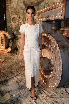 Lily Aldridge in Chanel. [Photo by Steve Eichner]