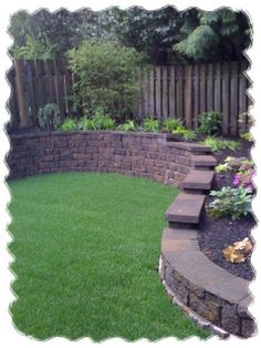 Raised garden area. #landscaping