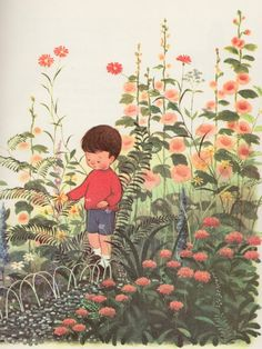 A Child's Garden of Verses by Robert Louis Stevenson, illustrated by Gyo Fujikawa (1957).