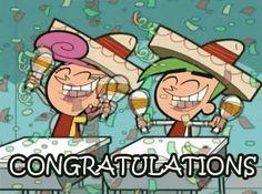 Congratulations GIF - Congrats Fairlyoddparents - Discover & Share GIFs