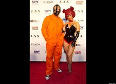 """Rapper and actor, Ice-T and wife Coco hosted the """"Player's Ball"""" Halloween party at LAX Nightclub inside the Luxor Hotel & Casino in Las Vegas, Nevada. (Splash News)"""