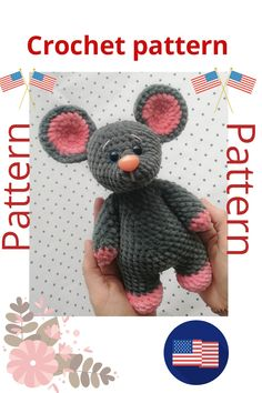 Crochet Pattern - mouse, with photos soft and fluffy little mouse DIY how to crochet tutorial Needlework crochet scheme scheme for knittin Gifts For Newborn Boy, Teen Girl Gifts, Newborn Boy Clothes, Gifts For New Moms, New Baby Gifts, Handmade Ideas, Handmade Crafts, Knitting Toys, Crochet Baby Clothes