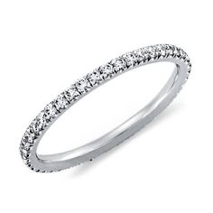 In 2015, we will celebrate 10 years together and 5 years married! This ring would be the PERFECT anniversary gift. A petite eternity band (diamonds all the way around, no wider than 1.8mm), set in platinum so that I could actually wear a ring on my wedding finger without destroying my skin! If only......