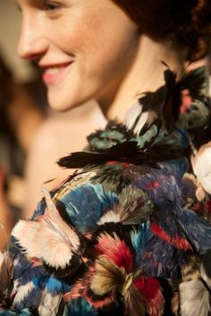 Backstage at Valentino show