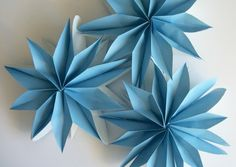 diy paper bag flowers tutorial blue huge big craft make
