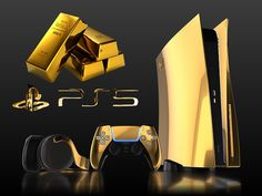 The most expensive Playstation 5 consoles are now available in 24K Gold versions, as well as 18K Rose Gold and Pure Platinum bundles, including DualSense controllers and Pulse 3D headsets in precious metals. Lego Marvel Spiderman, Ps4 Controller Custom, Game Wallpaper Iphone, Best Gaming Wallpapers, Dark Anime Guys, Video Game Rooms, Gaming Room Setup, Game Room Design, Game Room Decor