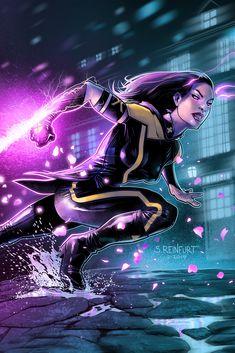 Marvel Comic Universe, Marvel Comics Art, Marvel Dc Comics, Marvel Heroes, Marvel Characters, Marvel Avengers, Psylocke, Marvel Women, Marvel Girls