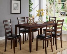 Tahoe 5-pc dining table and side chair 2330 by Crown Mark