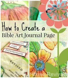 House Revivals: Watercolor Pencil Bible Art Journal Tutorial