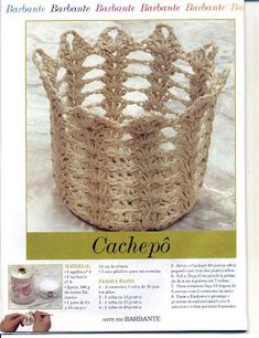 "Photo from album ""КОРЗИНЫ КРЮЧКОМ"" on Yandex. Crochet Angels, Crochet Box, Crochet Basket Pattern, Freeform Crochet, Love Crochet, Crochet Flowers, Crochet Patterns, Crochet Baskets, Diy Projects To Try"