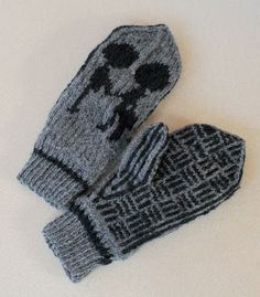 A bit early for mittens, but plenty of time to learn intarsia to make this for your favorite Radiohead fan.