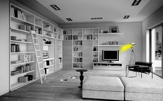 Amazing of Silver Room Furniture By White Living Room Tv Design, Design Case, Interior Design Tips, House Design, Design Ideas, My Living Room, Home And Living, Living Room Decor, Living Modern