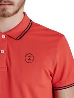 SPORTS INSPIRED POLO SHIRT, Cayenne