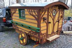 camper converted into gypsy wagon   The Most Colorful Gypsy Caravans