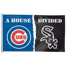 NEW ARRIVAL: Chicago Cubs vs. Chicago White Sox House Divided 3x5 Flag http://www.fansedge.com/Chicago-Cubs-vs-Chicago-White-Sox-House-Divided-3x5-Flag-_46123040_PD.html?social=pinterest_pfid24-01767