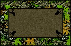 Obsession Mossy Oaks Bordered Leaves Camouflage Nylon Area Rug