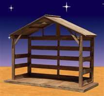 outdoor nativity stable - Can you make something like this for me? Joseph is my…