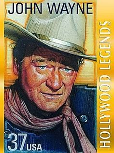 "2004 - USPS -John Wayne Stamp -The U. Postal Service has chosen Marion Michael Morrison, better-known to millions of adoring fans as John Wayne (or ""Duke""), to be honored in the Legends of Hollywood commemorative stamp series this year. Iowa, Tv Star, John Wayne Movies, Commemorative Stamps, Le Far West, Stamp Collecting, Old Hollywood, Hollywood Icons, Hollywood Stars"