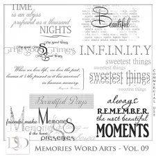 Memories Word Arts Vol 09 by D's Design  #CUdigitals cudigitals.com cu commercial digital scrap #digiscrap scrapbook graphics