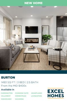 With an optional loft or finished basement, our Burton model in Walden gives you extra living space for family, guests or in-laws. View the virtual tour at ExcelHomes.ca! #3bedroomhome #CalgaryHomeBuilder #AlbertaRealEstate #ExcelHomes 3 Bedroom Home Floor Plans, House Floor Plans, Living Room Decor, Living Spaces, Bonus Rooms, Electric Fireplace, Virtual Tour, Great Rooms, Foyer