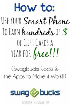 Super easy way to earn gift cards using Swagbucks' mobile apps. We love it and it covers our gift budget! You'll want to earn swagbucks on your phone. Money Tips, Money Saving Tips, Mo Money, Household Budget, Savings Planner, Frugal Living Tips, Earn Money Online, Ways To Save, Way To Make Money