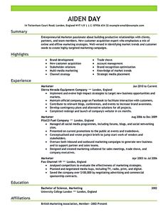 Collection Best Resumes Examples  Cvs