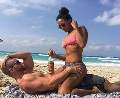 Sexy interracial couple playing on the beach #love #wmbw #bwwm #swirl