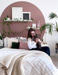 Room Ideas Bedroom, Dream Bedroom, Home Bedroom, Bedroom Decor, Bedrooms, Bedroom Wall Designs, Painted Headboard, Aesthetic Room Decor, New Room