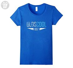 Women's Oldscool 1957 Shirt Funny 60th Birthday Gift Idea Old School Small Royal Blue - Birthday shirts (*Amazon Partner-Link)