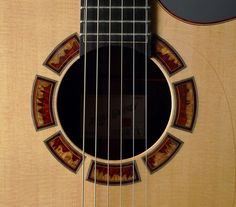 New Gaffney Guitars OM - Steel String Acoustic Guitar - Amboyna Burl Rosette