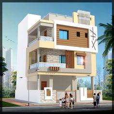Nitcon Independent House, House Map, Duplex House, Building Elevation, House Elevation, House Front Design, Modern House Design, House Paint Exterior, Exterior Design