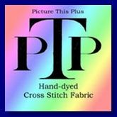 Hand dyed cross stitch fabric by Picture This Plus