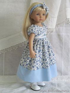 "13"" Effner Little Darling BJD fashion blue & white OOAK set handmade by JEC"
