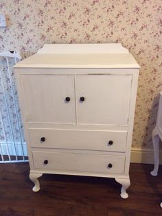 Vintage tallboy hand painted in Autentico white