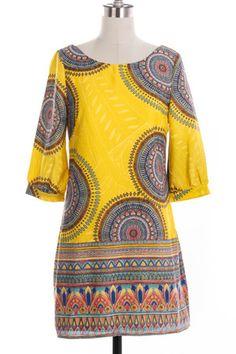 Summer Yellow Patterned Shift Dress with a little Art Deco/ Gatsby twist!  $42  www.cottonandpearls.com
