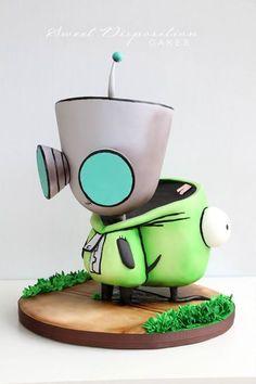 Invader Zim Gir cake