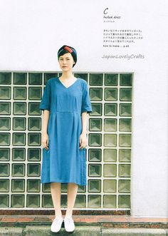 Comfortable & Simple Dress Tomomi Okawa by JapanLovelyCrafts