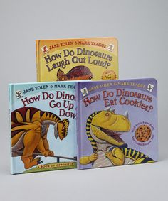 Take a look at this How Do Dinosaurs Hardcover Set by Scholastic on #zulily today!
