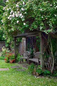 / Garden nook with rose arbor. Seen on: englishgar., / Garden nook with rose arbor. Seen on: englishgardeners. There are lots of issues that can ultimately full ones back garden, including an oldtime white picket containment system or. Garden Nook, Garden Cottage, Garden Spaces, Garden Art, Garden Oasis, Garden Boxes, Garden Kids, Side Garden, Herb Garden