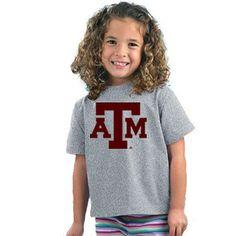 Texas A&M Aggies NCAA Block Logo Gray Toddler T-Shirt