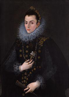 """Portrait of a Lady of the Court of Philip III"" by Juan Pantoja de la Cruz"