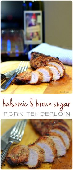 Factors You Need To Give Thought To When Selecting A Saucepan Balsamic And Brown Sugar Pork Tenderloin Home and Plate Grilled Slowly This Sticky Sweet Brown Sugar Balsamic Pork Tenderloin Is Sure To Please Everyone In The Family. Pork Tenderloin Recipe Brown Sugar, Cooking Pork Tenderloin, Pork Recipes, Cooking Recipes, Cooking Games, What's Cooking, Egg Recipes, Cooking Classes, Free Recipes